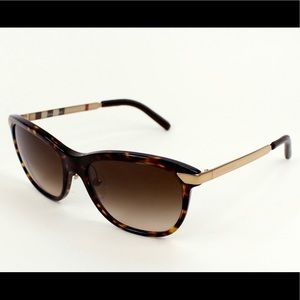 Burberry Sunglasses Check Pattern & Leather